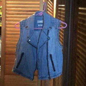 Jean vests. Selling for $8 a piece